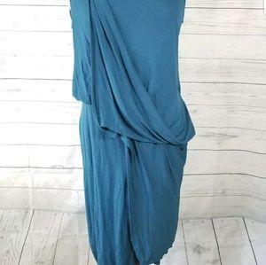 All Saints Dresses - ALL SAINTS Amelia Blue Draped Sleeveless Dress